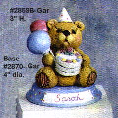 Gare Birth Month Teddy Bear  MARCH Ceramic Bisque Ready to Paint